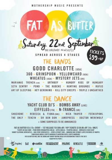 Fat As Butter Festival poster 2012