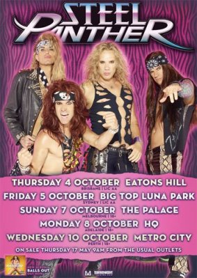 Steel Panther Australia Tour Poster