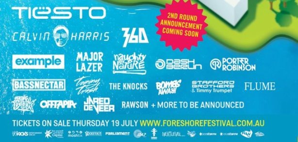Foreshore first announcement poster 2012