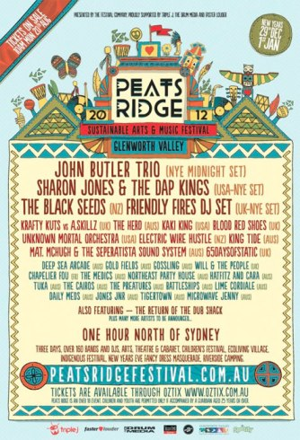 Peats Ridge Festival 2012 Poster