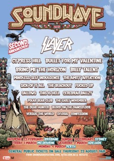 Soundwave festival 2nd announcement poster 2013